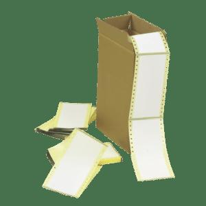 étiquettes neutres format paravent à plat et en carton au format personnalisé