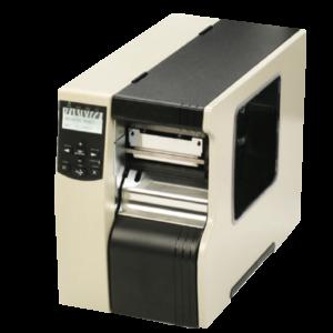 imprimante industrielle blanche et noire